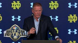 Brian Kelly press conference, USC vs. Notre Dame (FULL) | 10/12/19 | NBC Sports