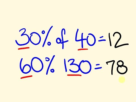 Percentages made easy - fast shortcut trick!
