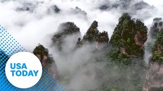 YouTube動画:Escape stress with drone video of majestic mountains and clouds | USA TODAY