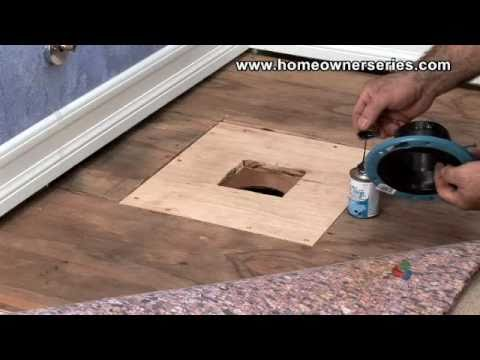 How to fix a toilet wooden sub flooring flange repair - How to replace subfloor in bathroom ...
