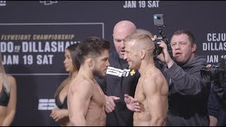 UFC Brooklyn: Henry Cejudo vs. T.J. Dillashaw Weigh-In Staredown - MMA Fighting