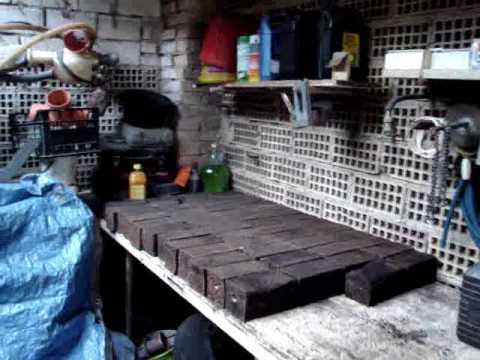 Pressa autocostruita per tronchetti di cartone e legno doovi for Pressa idraulica fai da te