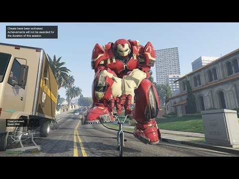GTA 5 Bigger HulkBuster Mod - Người Khổng Lồ náo loạn GTA 5
