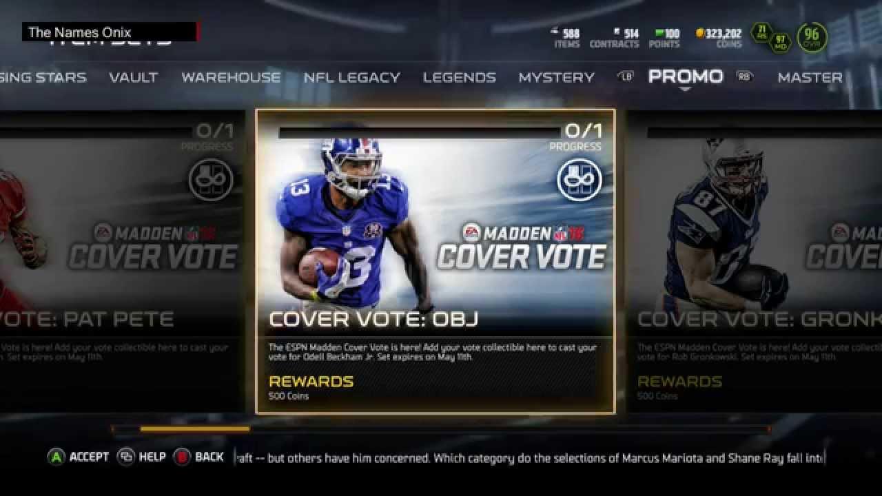 Madden 11 Cover Vote