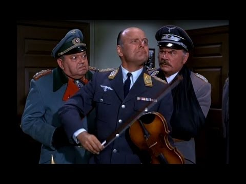 Colonel Klink's Violin Playing Infuriates Burkhalter!  Hogan's Heroes 1970