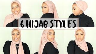 6 SIMPLE HIJAB STYLES USING 1 SCARF | Aysha Abdul