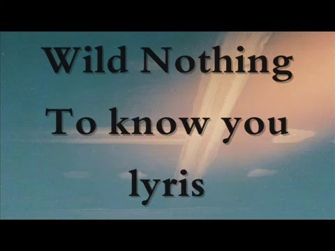 Wild Nothing - To Know You ( Lyrcis )