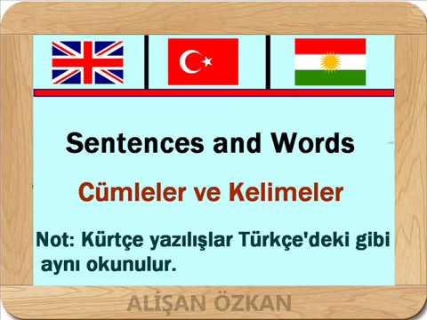 Learning Kurdish (Kurmanji) Language - Turkish Language