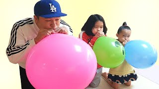 finger family color song By LoveStar | learn color with balloon | Nursery rhymes & Kids song
