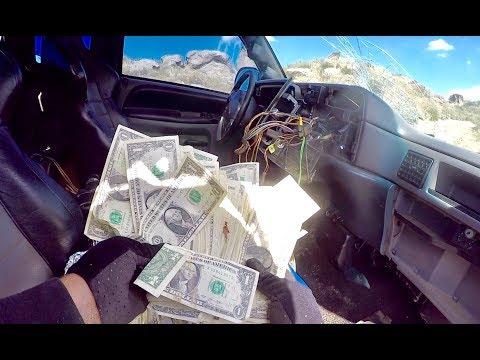 FOUND MONEY IN HIDDEN COMPARTMENT OF STOLEN TRUCK!!