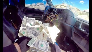 FOUND MONEY IN HIDDEN COMPARTMENT OF STOLEN TRUCK!!