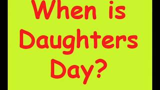 When is Daughters Day 2019