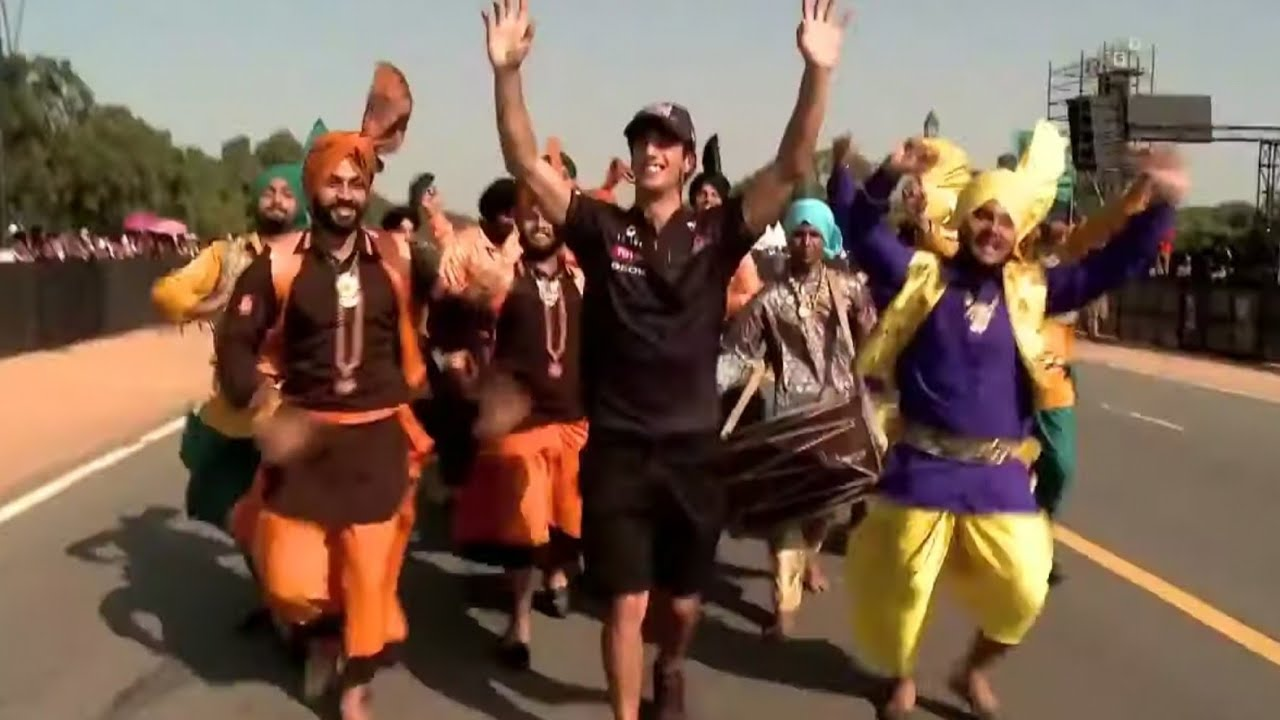 Ricciardo doing the Bhangra