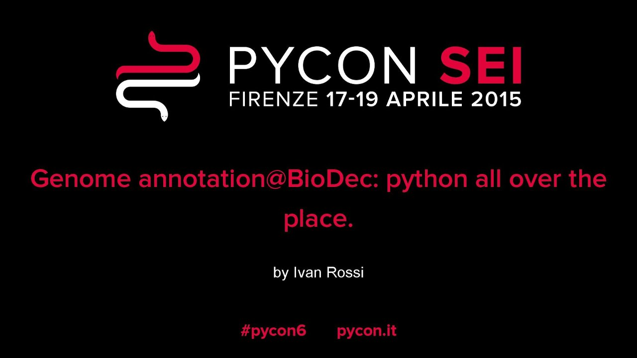 Image from Genome annotation@BioDec: python all over the place.