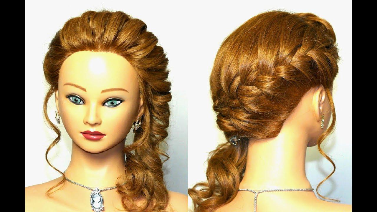 braided hairstyle for long hair. easy braid - youtube
