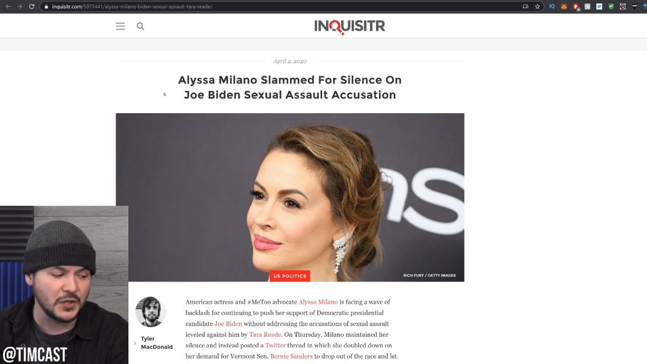 Alyssa Milano Endorses Joe Biden, Gets SLAMMED For Hypocrisy