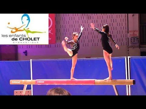 Louise et Justine  - démo poutre - Gala des enfants de Cholet