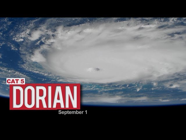 Views of Hurricane Dorian from the International Space Station - September 1, 2019