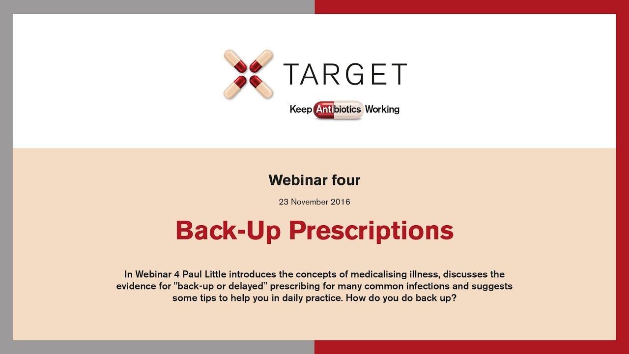 Back-up prescriptions - Target