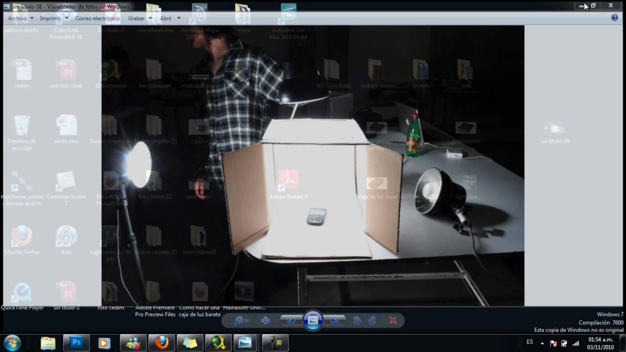 como hacer caja de luz para fotografia de objetos - YouTube