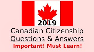 canadian citizenship exam sample 2017 question answer