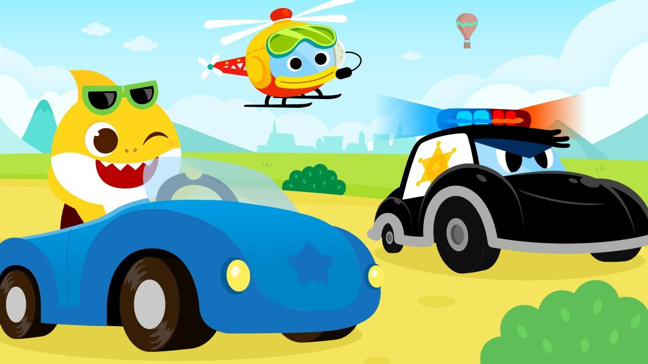 [앱트레일러] 아기상어 자동차 동요 마을 | 상어가족 앱 | 핑크퐁! 아기상어 올리