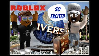 GOING TO UNIVERSAL STUDIOS RESORT ON ROBLOX | IM POOR ON ROBLOX | CABANA BAY ON ROBLOX