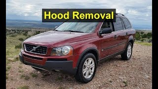 How to remove or replace the hood / bonnet on a Volvo XC90, P2 - VOTD