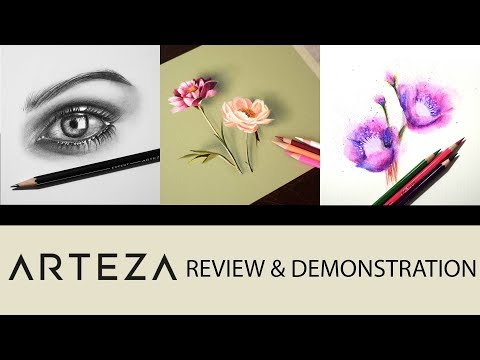 PREMIUM PERFORMANCE AT CHEAP PRICE? Arteza art supplies review and demonstration.