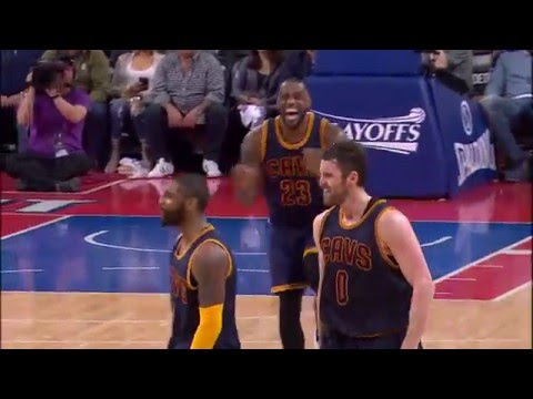 Kyrie Irving Drains a Corner Three to Ice Game 3 With LeBron James Reax!