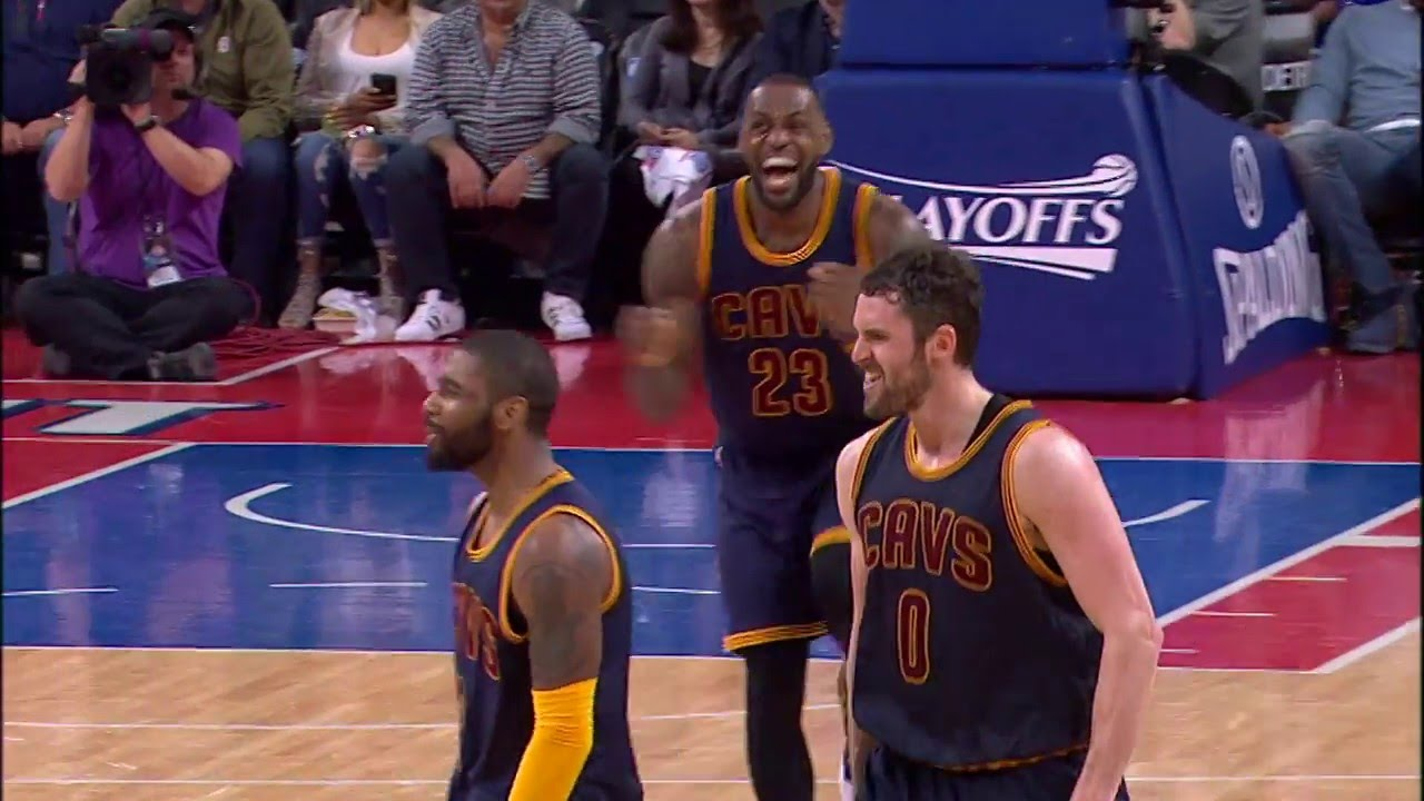 Kyrie Irving Drains a Corner Three to Ice Game 3 With LeBron James Reax! -  YouTube dde7c1144e4d