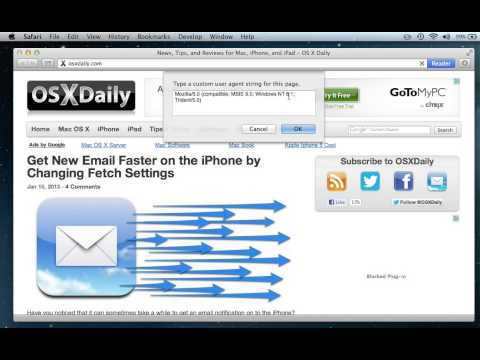 Change the User Agent of a Web Browser Easily with Safari in Mac OS X