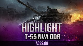 ГДРовец на карте Тундра! Т-55А в World of Tanks!