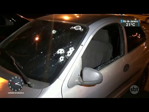 PM tenta impedir assalto e acaba baleado junto com a esposa | SBT Notícias (18/04/18)