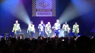 """""""Sing it loud"""" GENERATIONS FROM EXILE TRIBE Concert Paris 12/06/2015"""
