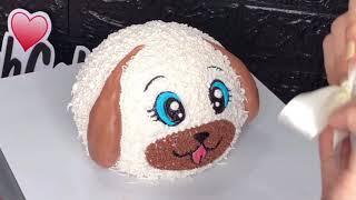 Làm bánh kem con Chó 3D - DieulinhCake