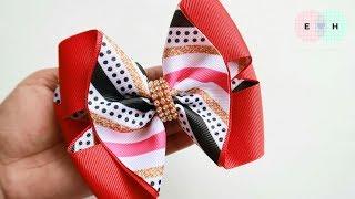 Laço de Fita 🎀 Laço Formoso Fita N9 🎀 Ribbon Bow Tutorial #8 🎀 DIY by Elysia Handmade