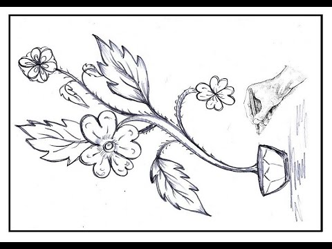 Flower Tree Sketch Pencil Sketch // Drawing Partner ...