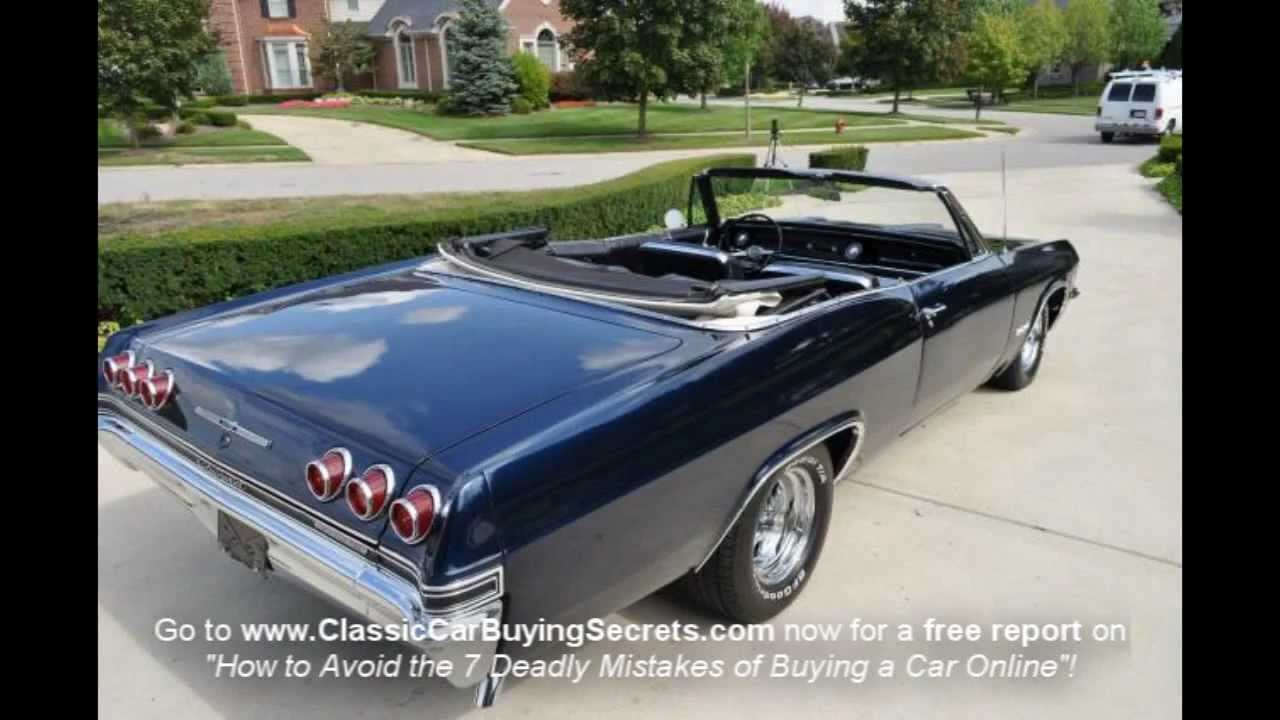 1965 Chevy Impala SS Convertible Classic Muscle Car for Sale in MI ...