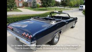1965 Chevy Impala SS Convertible Classic Muscle Car for Sale in MI Vanguard Motor Sales