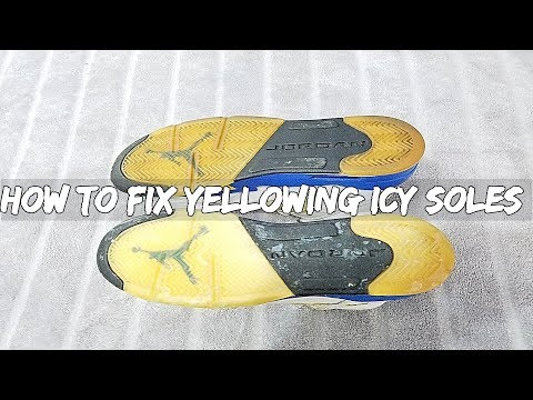 How To Fix Yellowing Icy Soles On Jordan 5