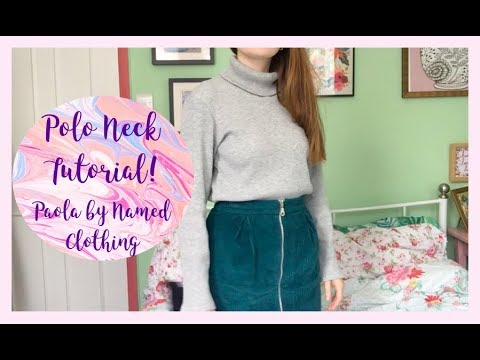 Sew Along Tutorial: Paola Polo Neck Sweater by Named Clothing