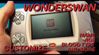 WonderSwan Tutorial - How to Customize Your WonderSwan settings