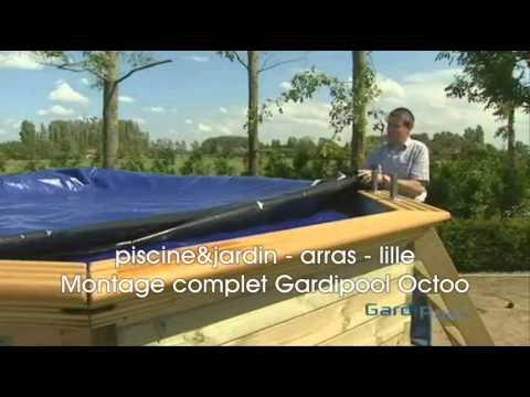 Montage complet piscine hors sol gardipool octoo piscine for Piscine jardin youtube