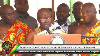 Presentation of CI's to Western North and Oti Region