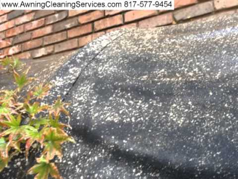 Cleaning A Canvas Awning To Remove Mold Mildew Dallas Fort Worth TX 817 577 9454