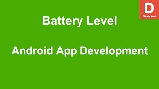 Android Get Battery Level Information