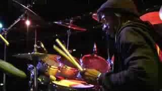 Sly Dunbar at soundcheck