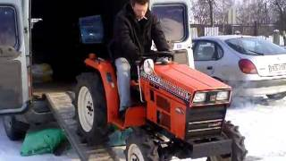 Hinomoto C174D mini ciągnik ogrodniczy. Japoński traktorek ogrodowy. www.traktorki.waw.pl