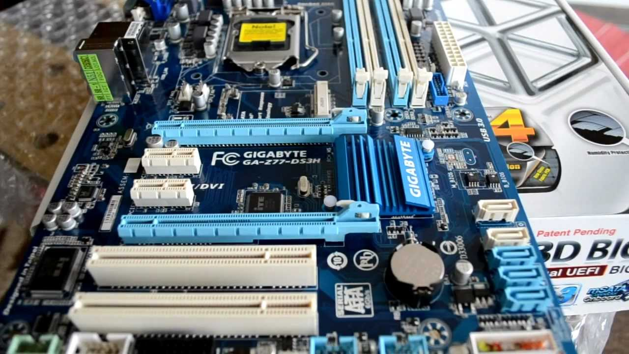 Preview Motherboard Gigabyte Z77-DS3H Para Intel Core LGA 1155 Ivy Bridge